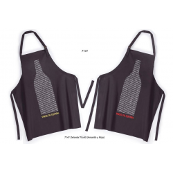 Pack 2X Delantal Cooking Apron Unisex IDEAL 7237 Black Wine Bottle Spain