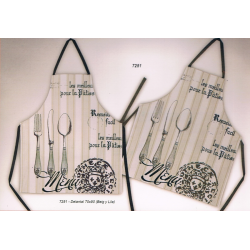 Delantal Cooking Apron Unisex 7251 IDEAL Menú