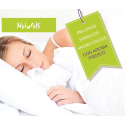 NATURALS Relleno Nórdico AROMATIZADO Y ANTIALÉRGICO LISO Duvet 400gr Bed White EUROMODA