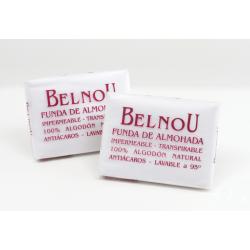 Funda de Almohada BELNOU RESPIRA 100% ALGODÓN NATURAL Impermeable y Transpirable Antiácaros ( Varios tamaños disponibles )