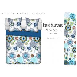 TEXTURAS HOME SECRET Quilt Bouti Verano Basic MIKA Azul o Fucsia 180X255 cms