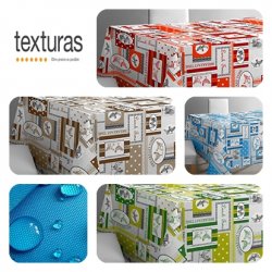 TEXTURAS SELECTION - Mantel Tela TEFLON Impermeable GALLINA ( Varios colores disponibles )