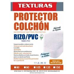 TEXTURAS HOME - Protector de Colchón Impermeable Rizo/PVC (disponiblele en varios tamaños )
