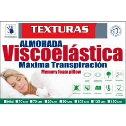 TEXTURAS HOME SECRET Almohada VISCOELASTICA Aloe Vera ( Varios tamaños disponibles )