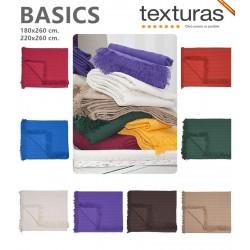 TEXTURAS BASICS - Colcha Multiusos Lisa CAMA Y SOFÁ Económica