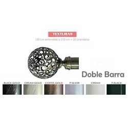 TEXTURAS BASIC HOME Barra Forja Universal Extensible DOBLE BOLA