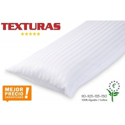 TEXTURAS HOME - Funda de Almohada Algodón 100% Color Blanco 7 tamaños disponibles (BASIC HOME zipper Pillowcase 100% Cotton)