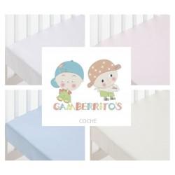 GAMBERRITOS - Sábana Bajera COCHE Adaptable 40X80 ( Diferentes colores disponibles )