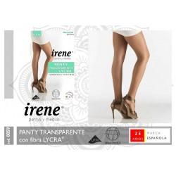 IRENE Pantys y Medias - Panty Transparente SUPERTALLA CON PIEZA con fibra LYCRA 0059 ( SG )