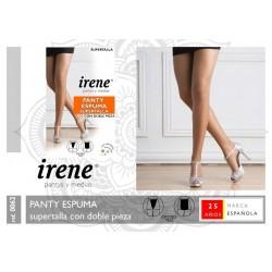IRENE Pantys y Medias - Panty Espuma SUPERTALLA con Doble Pieza 0062