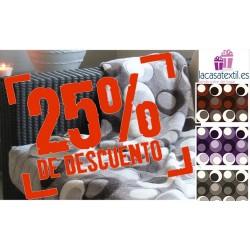 OFERTA -25% Manta Plaid DOTS BAIT&GAN 125X155 COLORS