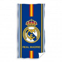 REAL MADRID CF - Toalla de Playa Licencia Algodón 100% Escudo 173026 Bandera 70X140 cm