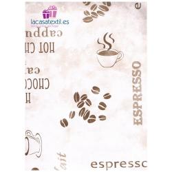 Mantel Hule Ribete Espresso TEXTURAS 140X140