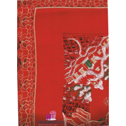 Mantel Bordado Navidad Trineo Rojo x85 cm