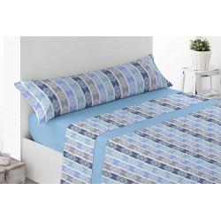 Juego de sábanas Térmica Invierno Nagay Azul 120 gr