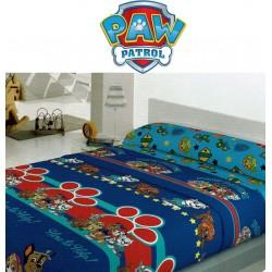 Juego Sábanas Coralina OFICIAL PAW PATROL ROJO Y AZUL ( Varios tamaños disponibles )