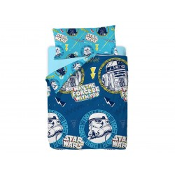 GAMANATURA - Funda Nórdica Oficial Disney Star Wars BLUE 90x190 cm