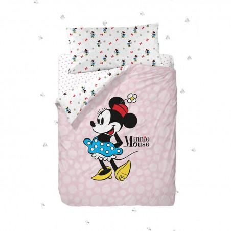 GAMANATURA - Juego de funda nórdica DISNEY Minnie Mouse POPS 90x190 cm