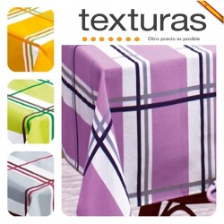 TEXTURAS HOME - Mantel Antimanchas TEFLON OCEAN Impermeable 4 Colores ( Varios tamaños disponibles ) TABLECLOTH ANTI-STEIN