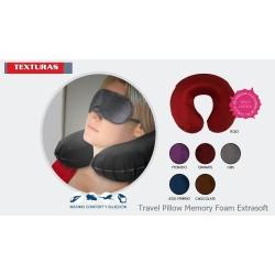 TEXTURAS HOME SECRET - Almohada Cervical VIAJE Viscoelástica LAST FOAM Solid Desenfundable 27x32x10 cms