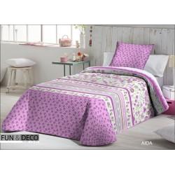 FUNDECO - Summer Bedspread Bouti AIDA LILA + 1 Cuadrantes ( Varios tamaños disponibles)