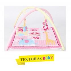 TEXTURAS BABY - Gimnasio de actividades para Bebé 70x70 cm MARINO