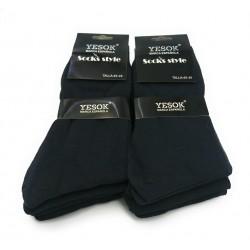 Pack 6 Par Socks YASOK Caballero Cuadros Talla Única 40-46
