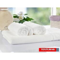 TEXTURAS BASICS - Toalla de baño para Hotel y Apartamentos ECONOMY Color blanco ( Varios tamaños disponibles )