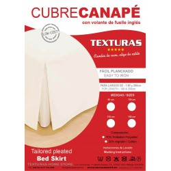 Cubrecanapé Loneta BASIC HOME by TEXTURAS Fuelle Inglés Crudo