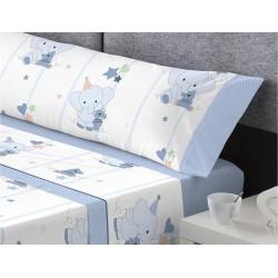 Juego de sábanas Tela PIRATA Azul Catotex  90x190 cm