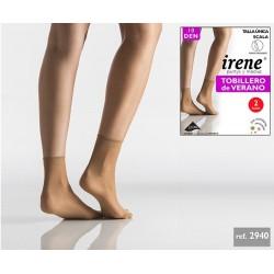 IRENE - ( 3 Packs de 2 pares ) Minimedia Tobillero de VERANO para mujer TALLA ÚNICA Color Scala 2940 DEN 10