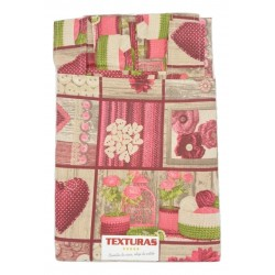 TEXTURAS HOME - Cortina de loneta estampada GARDEN CLUB 260X150 cms ( Varios colores disponibles )