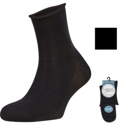 YSABEL MORA - Pack 2 pares Calcetín TRANSPIRABLE SIN PUÑO CABALLERO Color Negro ( Talla única ) 22733