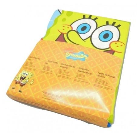 Nickelodeon - Dúo Funda nórdica + almohada BOB ESPONJA ( Cama 105)