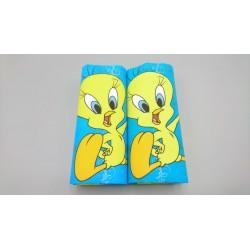 LOONEY TUNES - Pack-2 pañuelos infantiles de algodón PIOLÍN 28X28 cms.