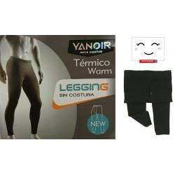 YANOIR - Legging TÉRMICO de hombre sin costuras con botones (Talla Única )