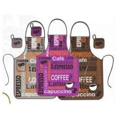 Delantal Rizo Estampado Coffee 60X80 cms ( Varios colores disponibles )