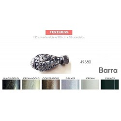 TEXTURAS BASIC HOME - Barra Forja Universal Extensible 160-310 cms SENCILLA 49362 PIÑA ( Varios colores disponibles )