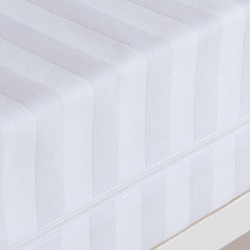 ZORBA - Funda de Colchón UNIVERSAL Raso Cuty Listado 100% Tacto algodón Cremallera ( Varios tamaños disponibles )