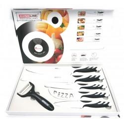 Swissline - Set de 5 cuchillos + Pelador BLANCO Caja SE-COL5-WH