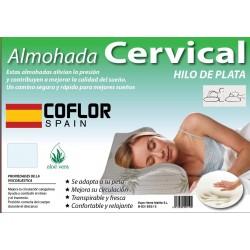 Almohada Cervical de 70 cm Aloe Vera Hilo de Plata ( 70 x 9 x 34 cm)cms