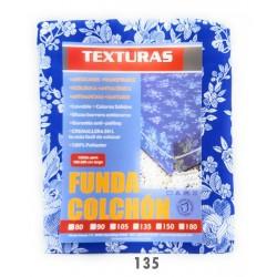 Funda de colchón DENIER Azul Cremallera L Flor  80 x 190 cm