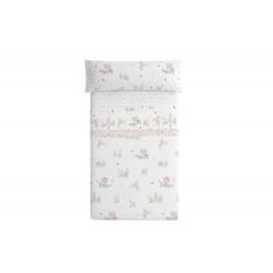 Burrito Blanco - Juego de sábanas Diseño 7 90X190/200 cm