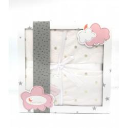 Interbaby - Manta Bebé Bodoques rosa 76 x 106 cm