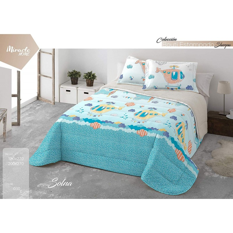 Miracle Home Bouti Sherpa Solna, Azul, 180 x 270 cm