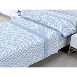 Juego de sábanas Invierno Térmica 120 gr Tales Azul ( Cama 150 x 200 cm )