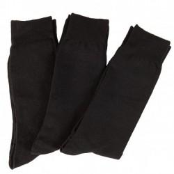 BAMBOO SOCKS - Pack 6 pares de Calcetines Hilo de 100% Fibra Bamboo, Talla Única, Negro.