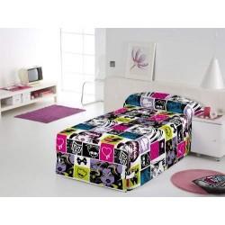 Edredón Conforter Sin Lazos Monster High Chispas  180 x 260 cm