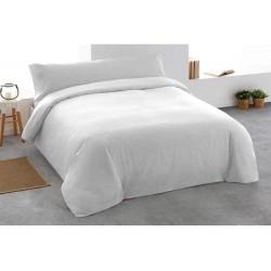 TEXTURAS BASICS - Funda nórdica lisa para Hotel y Apartamentos ECONOMY Color blanco ( Varios tamaños disponibles )