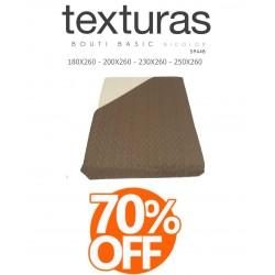 TEXTURAS HOME - Colcha de Verano de color Marrón-Beige 180 x 260 cm